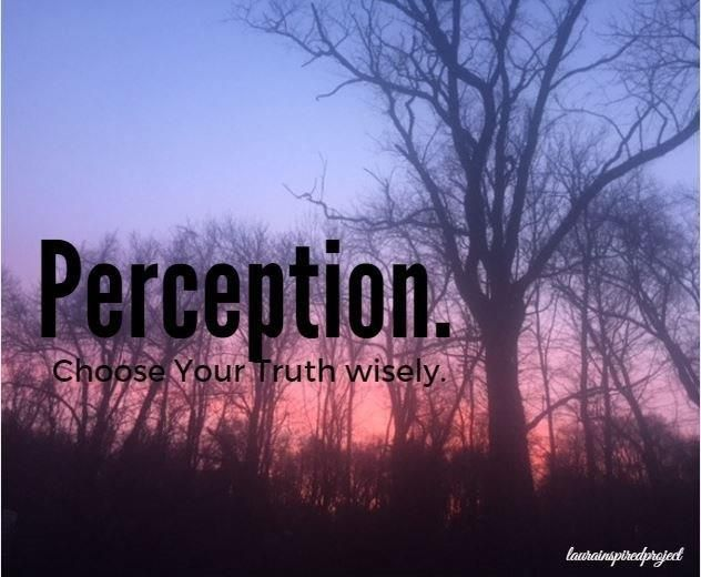 Perception. Choose Your Truth Wisely.