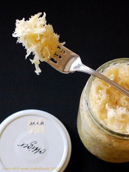 Sauerkraut im Glas selbst gemacht