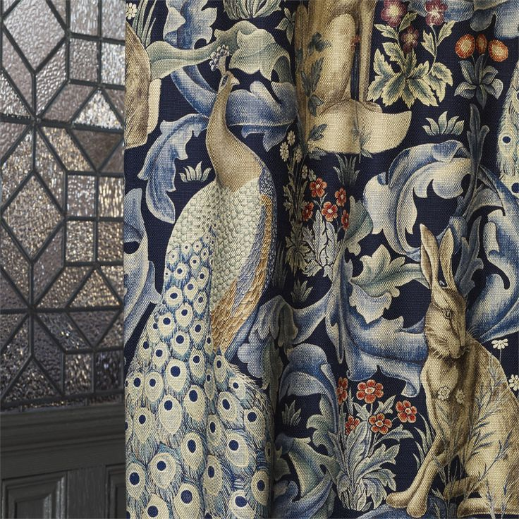 Classic hares, peacocks and acanthus from Morris & Co Fabrics