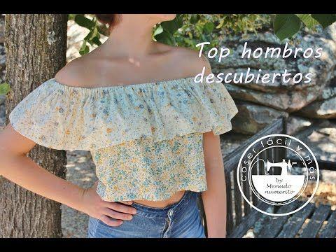 """El blog de """"Coser fácil y más by Menudo numerito"""" - Costura creativa: Top con hombros descubiertos"""