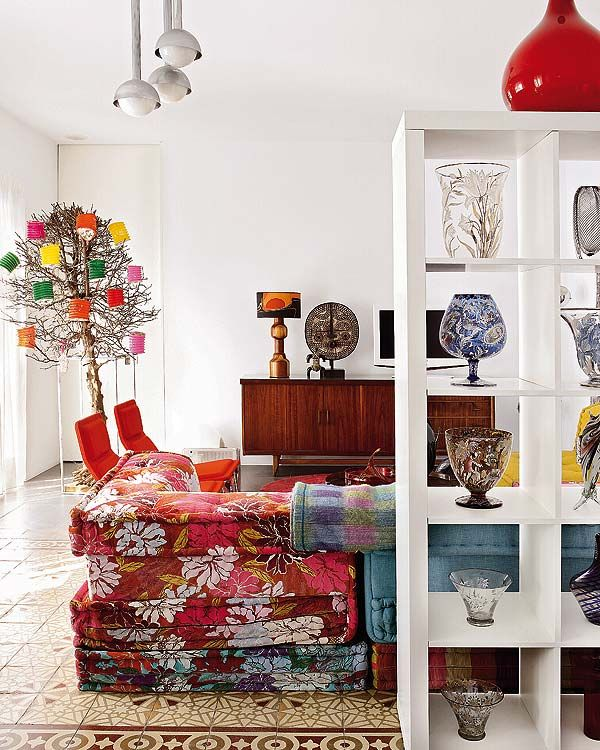 Цветен дизайн на апартамент от Carmen Rivero в Мадрид