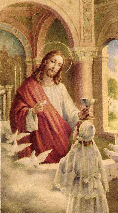Днем, открытки с первым причастием католика