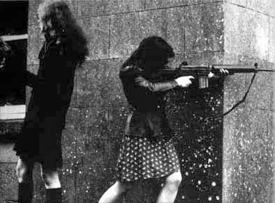 Female fighters from the Irish Republican Army