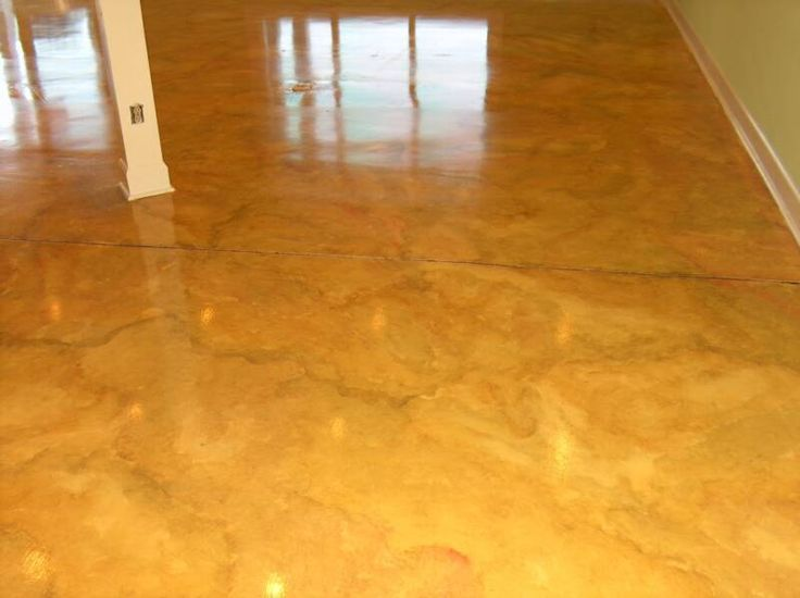 painted concrete floors here are two concrete floors that have been