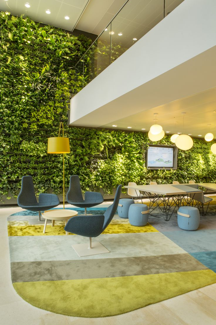 Livewall green wall system make conferences more comfortable - Garden Wall Office Heyligers Design Projects Have Designed The Offices For Power Company Nuon Located In Amsterdam The Netherlands