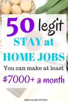 50 Legit Stay At Home Jobs