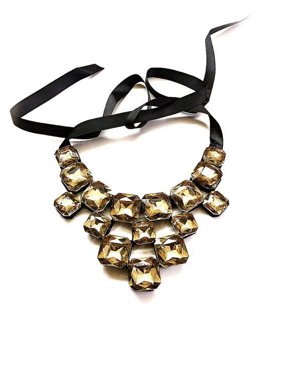Fascinating Swarovski Crystal Necklace от Monamibijoux на Etsy