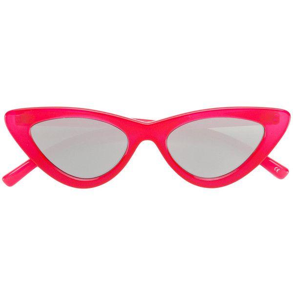 Le Specs The Last Lolita sunglasses ($101) ❤ liked on Polyvore featuring accessories, eyewear, sunglasses, red, acetate glasses, le specs sunglasses, acetate sunglasses, red glasses and red sunglasses