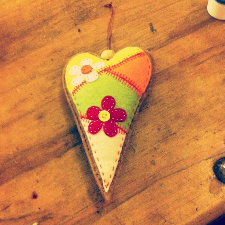 Handmade decorative hanging  heart , most colour combinations  can be done £3.50 each , pm me to order