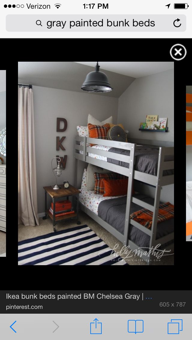 Gray bunks