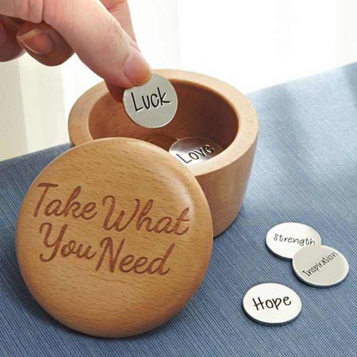 I present to you the take what you need positivity wooden box.  So what do…