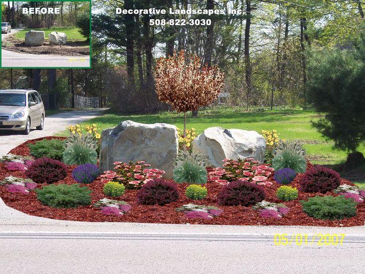 Landscape Design  rock garden  entryway landscape design  MA. 27 best images about Island Landscape Beds on Pinterest   Islands
