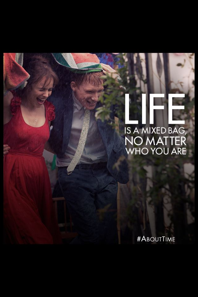 About Time - one of the most beautiful films I have ever seen. I will watch it again and again.