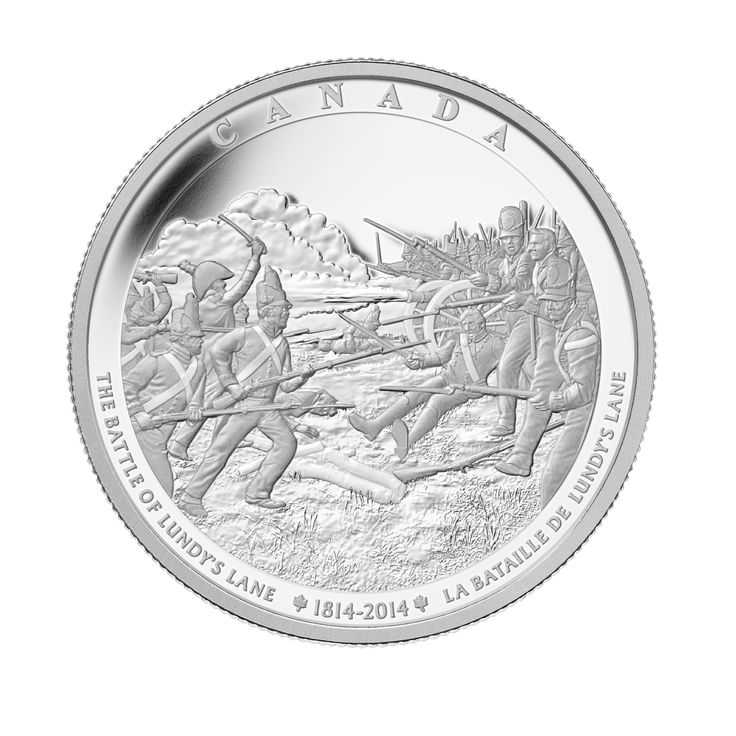 Fine Silver One Kilogram Coin - The Battle of Lundy's Lane The Battle of Lundy's Lane was one of the fiercest land battles of the War of 1812 – but also one of the deadliest ever fought on Canadian soil.
