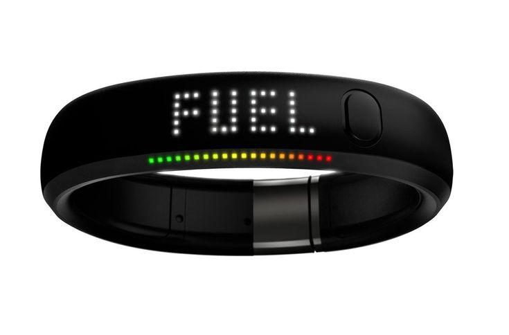 Nike+ Fuelband - een sportarmband waarmee je je dagelijkse fysieke activiteiten kunt bijhouden.