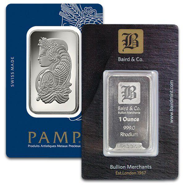 1 Oz Rhodium Bars For Sale Buy 1 Oz Rhodium Bars Money Metals Exchange Llc Gold Bullion Metal Prices Metal