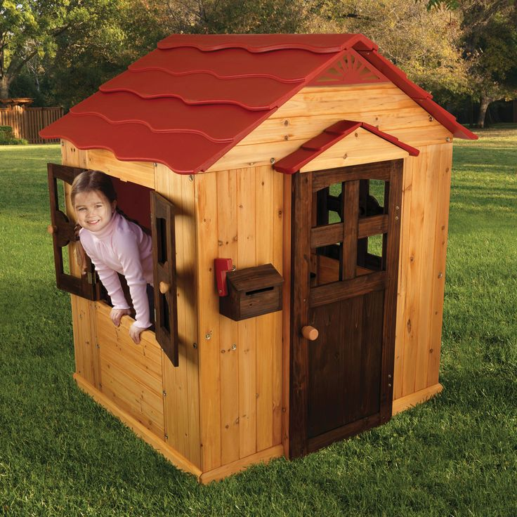Have to have it. KidKraft Red Roof Outdoor Playhouse - $299.98 @hayneedle.com