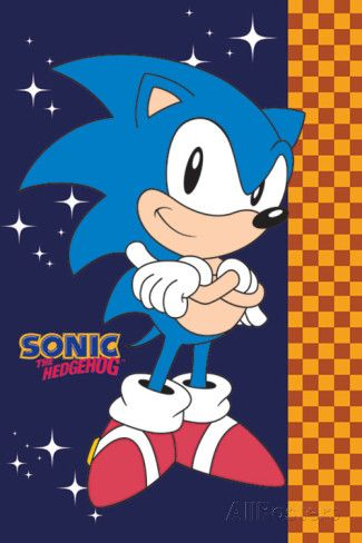 Sonic The Hedgehog (Stars) poster