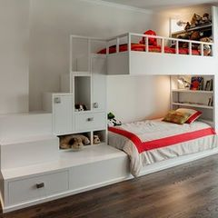 Shared bedroom, stairs/storage
