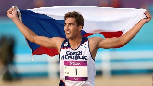 David Svoboda of Czech Republic celebrates winning the Men's Modern Pentathlon on Day 15 of the London 2012 Olympic Games