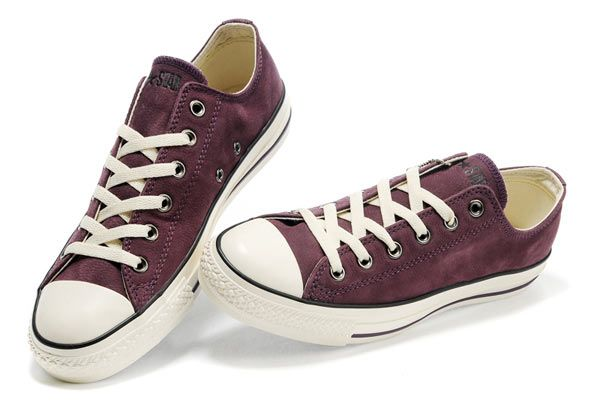 #Converse All Star Overseas Edition Purple Ox Low Top #Leather #shoes