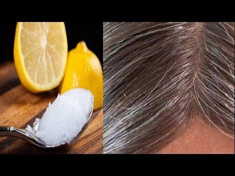 Elimina las canas con aceite de coco y limón, y recupera el color natural de tu cabello. - YouTube