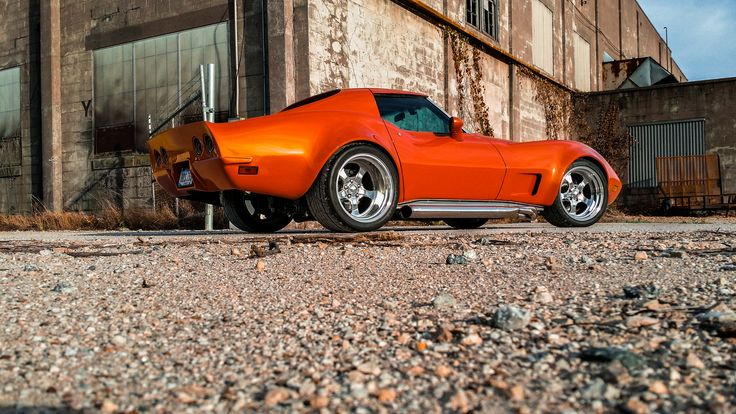 1976 chevy corvette stingray.  LS1, Richmond six,VBP,Custom Image Flares and rear end, Vintage Air,  Inferno Orange. Intro Pentia wheels  .Rest mod. Pro Touring.