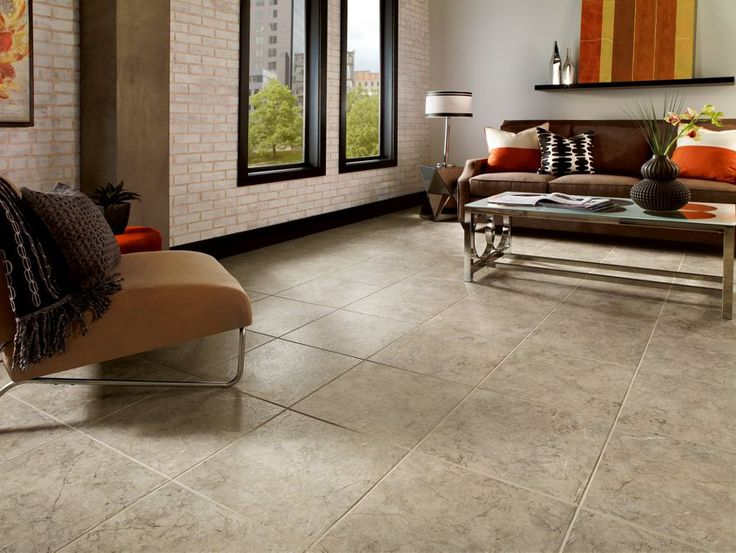 Armstrong Luxury Vinyl Tile | LVT | Taupe/Gray Stone Look | Living Room  Inspiration Part 52