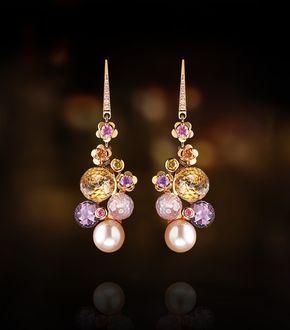 Des pierres précieuses pour les boucles d'oreille Chanel !
