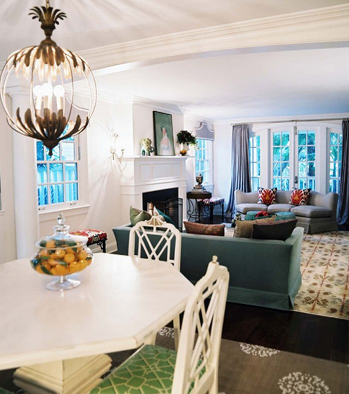 Living And Dining Room Combo: Love The Colors In This Living Room And Dining Room Combo
