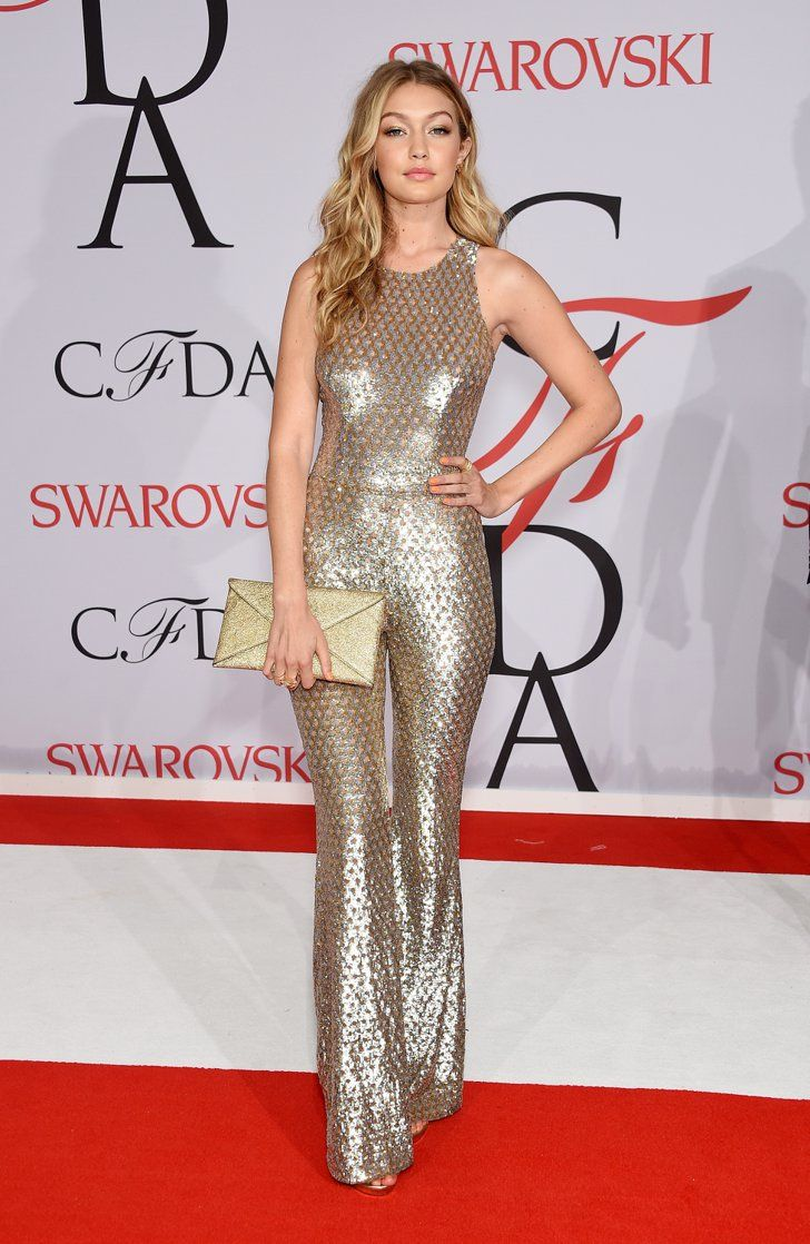 Pin for Later: Who Is the CFDA Awards Best Dressed? Gigi Hadid In Michael Kors and Atelier Swarovski jewels.
