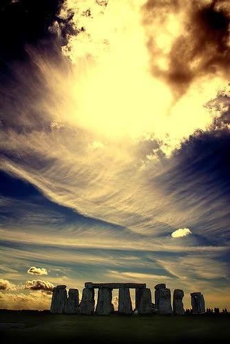 Amazing sky over Stonehenge, England