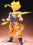 At last, your favorite Dragon Ball characters will join the high-detail FiguartsZERO statue line-up! The first title will be Super Saiyan Son Goku. This meticulously crafted sculpt faithfully captures details such as Gokus battle damage, and depicts brilliant battle effects and Saiyan hair with translucent parts. Set also includes special display stand.