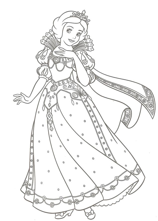 Coloring Pages Of Princess Dresses : Best coloring pages images on pinterest