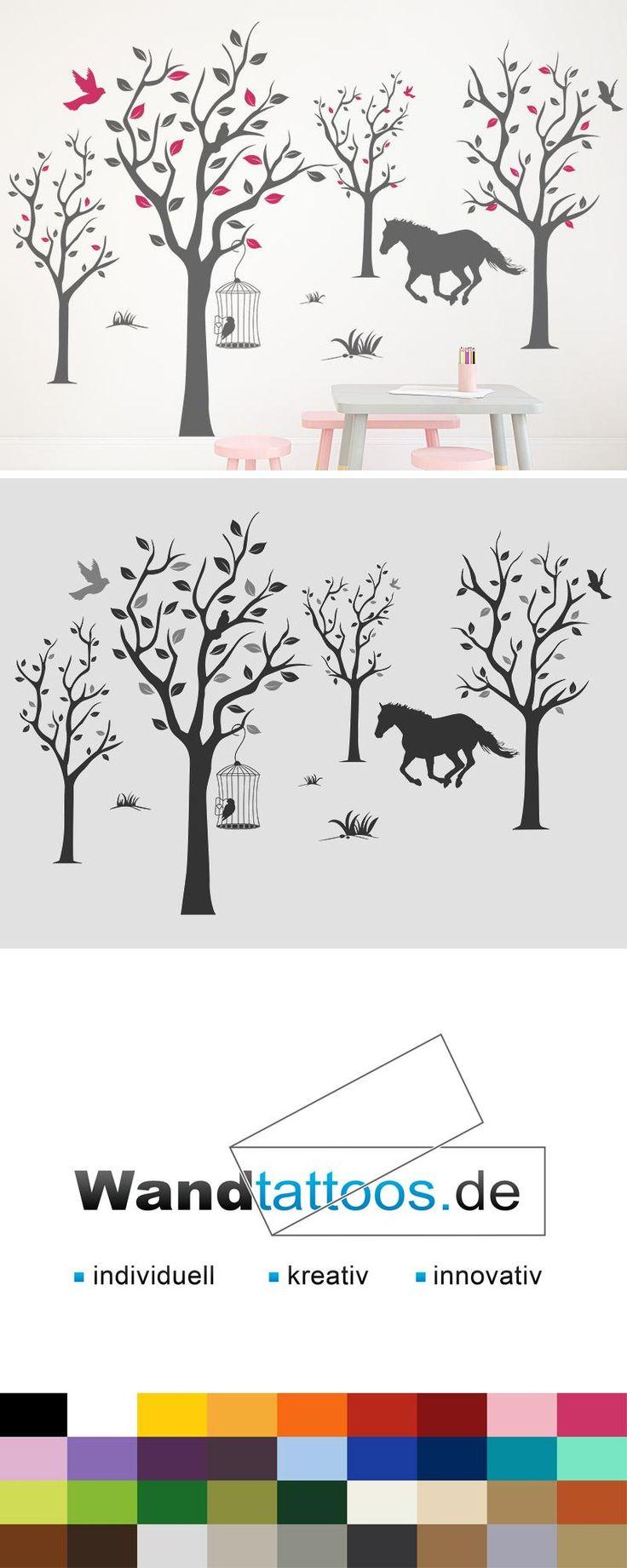 Wandtattoo Verspielte Baumlandschaft als Idee zur individuellen Wandgestaltung. Einfach Lieblingsfarbe und Größe auswählen. Weitere kreative Anregungen von Wandtattoos.de hier entdecken!
