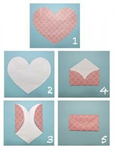 Make your own envelope with a heart shape