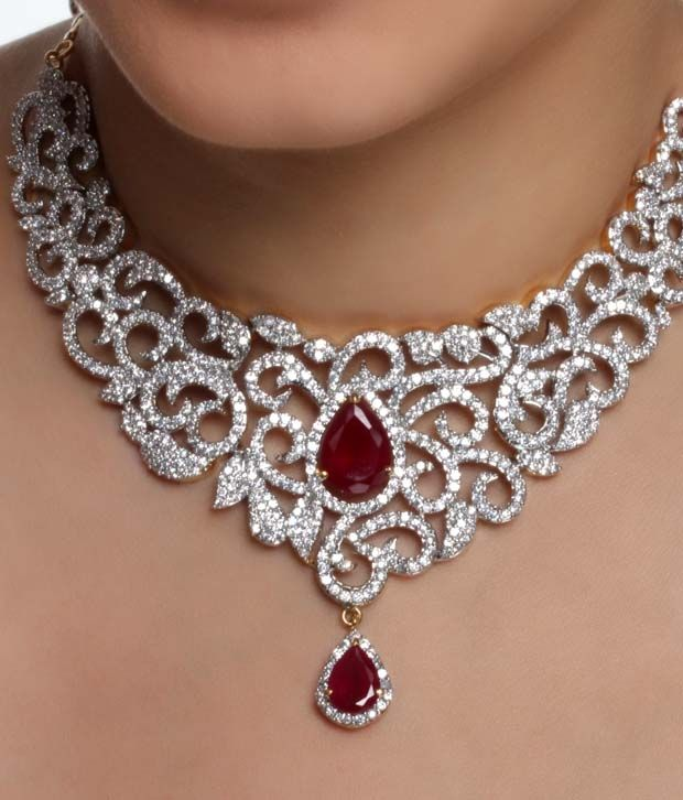 1000 Ideas About Indian Bridal Jewelry Sets On Pinterest: Gorgeous American Diamond Jewellery