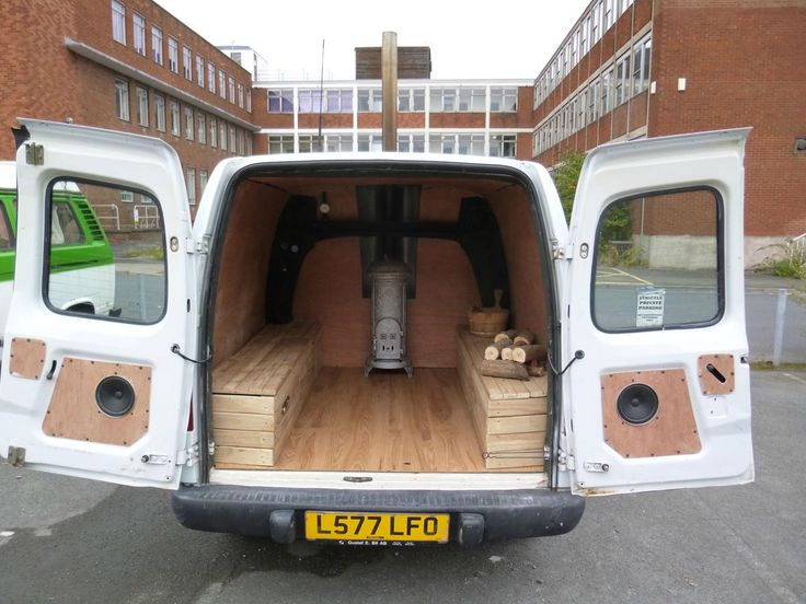 Guy Builds A Working Sauna In The Back Of Van Wood Burning