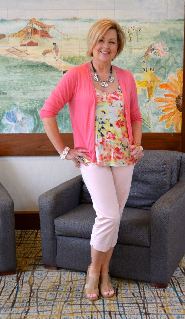 50 Is Not Old   Going Pink   Breast Cancer Awareness   Spring Outfit   Fashion over 40 for the everyday woman