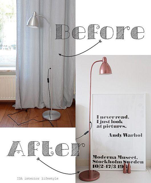 DIY: copper lamp by IDA Interior LifeStyle http://www.idainteriorlifestyle.com/2013/05/diy-copper-lamp.html