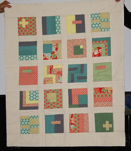 Liz made quilts for her sis's twins.  She used Tula Pink's City Sampler