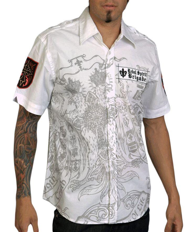 Pánská košile Rebel Spirit Brigade (bílá).