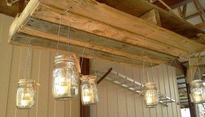 M s de 1000 ideas sobre l mparas de techo en pinterest - Lamparas con palets ...