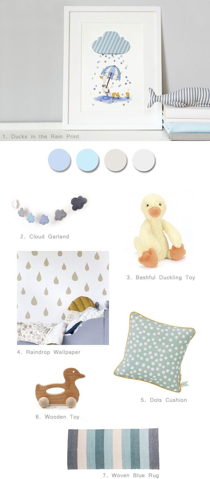 Cute duck themed nursery and bedroom ideas