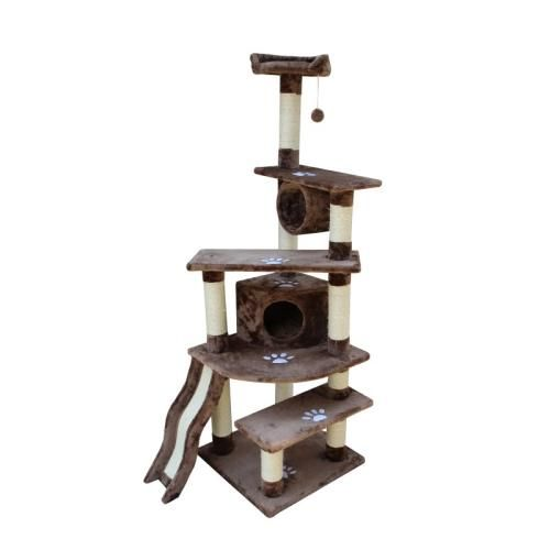 Kitty Mansions Fun Cat Tree Tower Condo Furniture Scratcher Sisal Scratching Post Pet House Fi - Shanghai Mocha - 5 Sellers Found - Lowest Price: $83.99 -