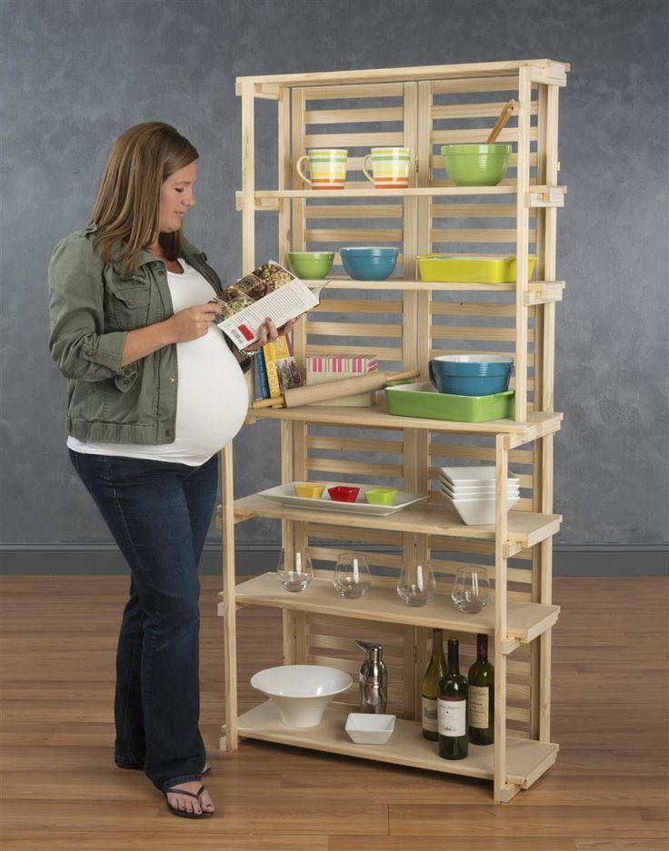 wooden retail shelving unit w 6 shelves pine wood. Black Bedroom Furniture Sets. Home Design Ideas