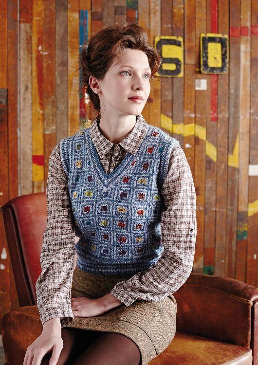 Ember Waistcoat in Rowan Felted Tweed DK - Free Pattern