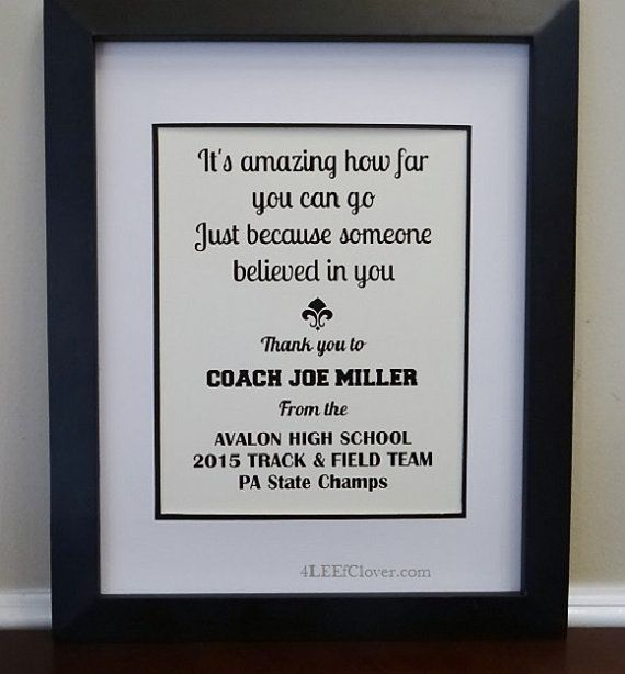 Coach's gift. Personalized print. Track. Cross by 4LEEfClover