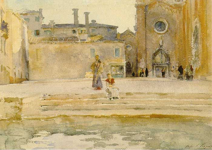 Campo dei Frari, Venice, by John Singer Sargent