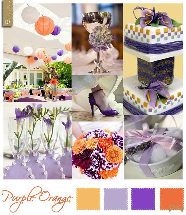 Wedding Moodboards   Purple Orange